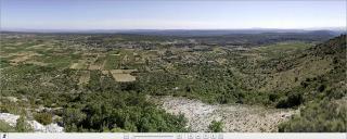 Panoramique plateau de St Remèze