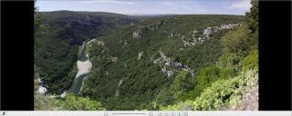 Panoramique des rapides de Gournier